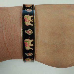 Vera Bradley Pink Elephant Bangle Bracelet